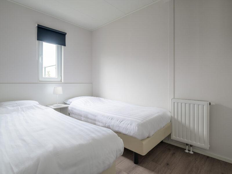 Uw vakantiehuis aan de Belgische kust. Chalet type Breeduyn Twin buitenzicht - www.seapromotion.be